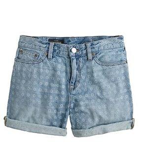 J. Crew Denim Shorts in Laser Dot